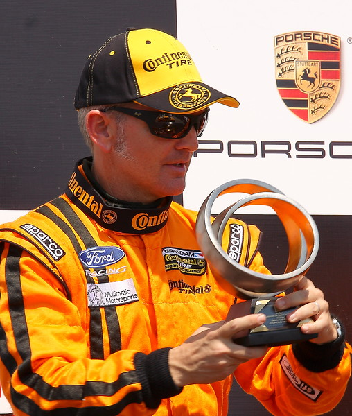 Multimatic Grand Sport Driver Joe Foster Celebrates at Barber