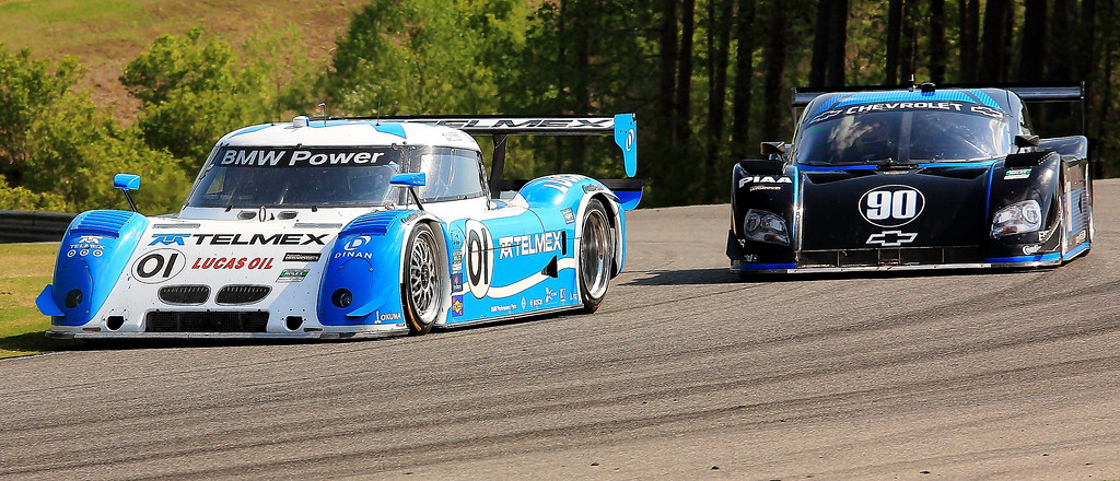 Scott Pruitt and Paul Edwards do battle at Barber Motorsports Park Spirit of Daytona and TelMex Chip Ganassi Daytona Prototypes