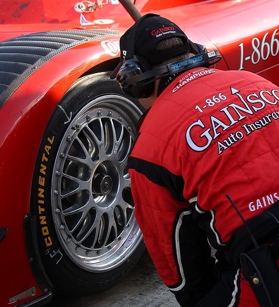 Gainsco Bob Stallings Racing Pit Stop Tire Change Barber Motorsports Park