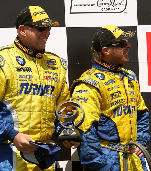 Turner Motorsports Joey Hand and Michael Marsal Podium Finish Barber