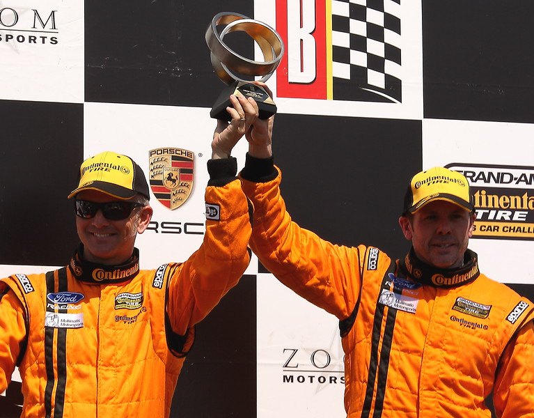 Foster and Maxwell on Podium at Barber Motorsports Park