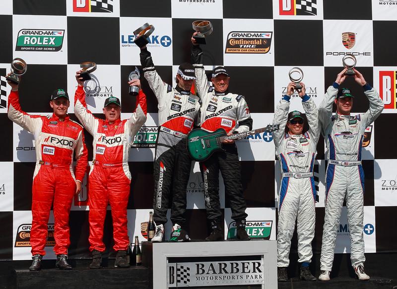 Grand-Am Rolex GT Podium SpeedSource AIM Autosport Team FXDD and Brumos Racing capture podium places