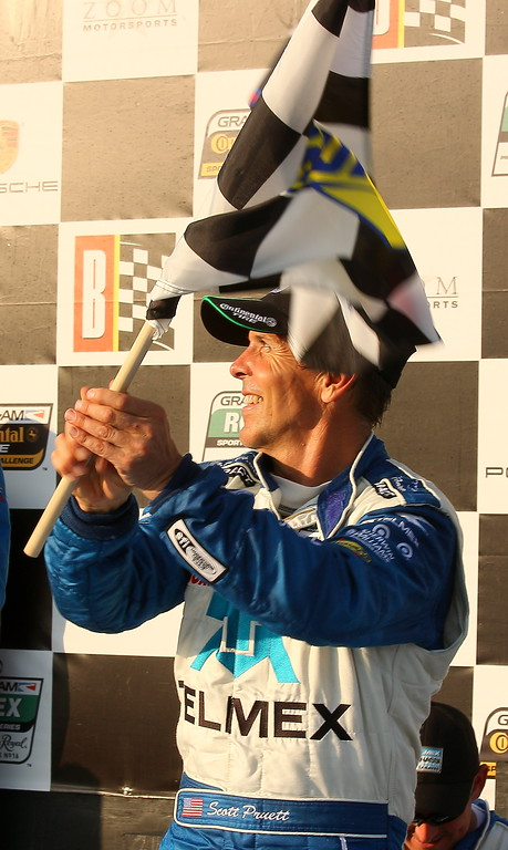 Scott Pruett Celebrates Rolex Win at Barber Motorsports Park