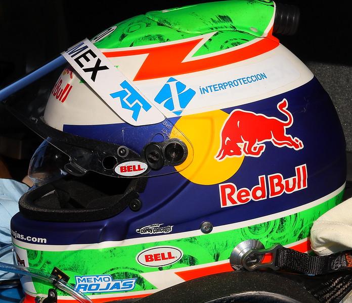 Memo Rojas Helmet Telmex Chip Ganassi Racing Barber