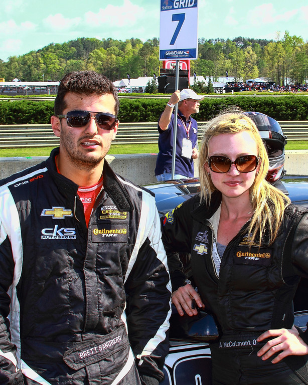 Grand-Am Continental Tire CKS Autosport Drivers Brett Sandberg and Ashley McCalmont Barber