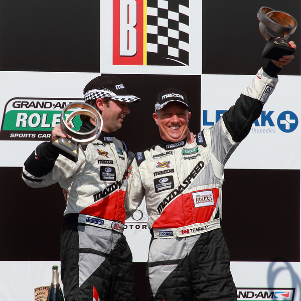 Grand-Am Rolex GT Winners Sylvain Tremblay and Jonathan Bomarito Victory Lane Barber