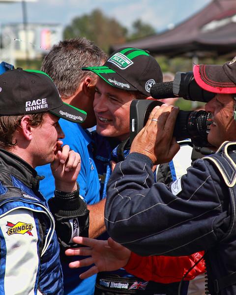 Garcia and Westbrook celebrate victory Grand-Am Rolex Sports Car Series Porsche 250