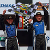Spirit of Daytona drivers hold Sunoco Checkers Victory Lane Barber