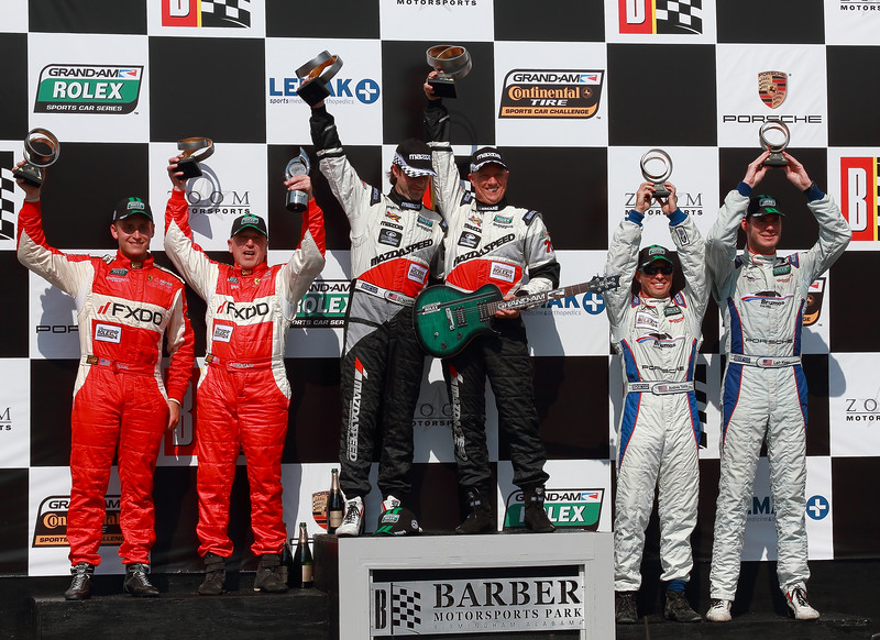Grand-Am Rolex GT Podium SpeedSource AIM Autosport Team FXDD and Brumos Racing capture podium places