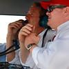 TELMEX Chip Ganassi Racing with Felix Sabates discuss Memo Rojas penalty on lap 52 at Barber during Rolex Sports Car Series Porsche 250
