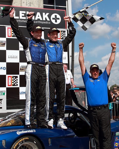 Grand-Am Spirit of Daytona Chevy Corvette DP Team Celebrates Victory Barber Motorsports Park
