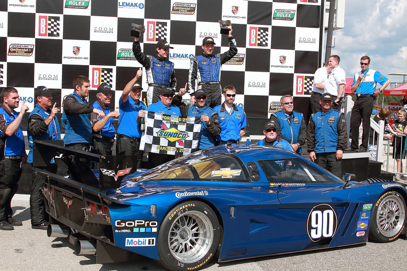 Spirit of Daytona Team celebrates in Victory Lane Barber Motorsports Park