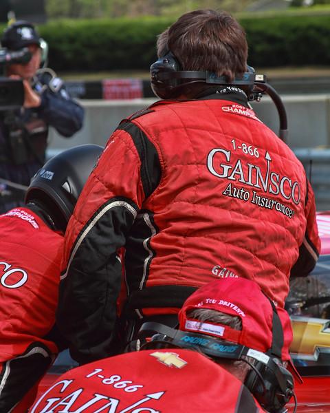 Grand-Am Rolex Team GAINSCO Bob Stallings Corvette DP car pit road Barber