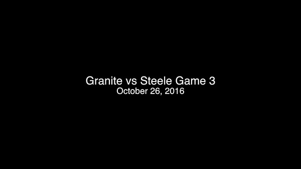 10-26-16 Game 3 vs Steele