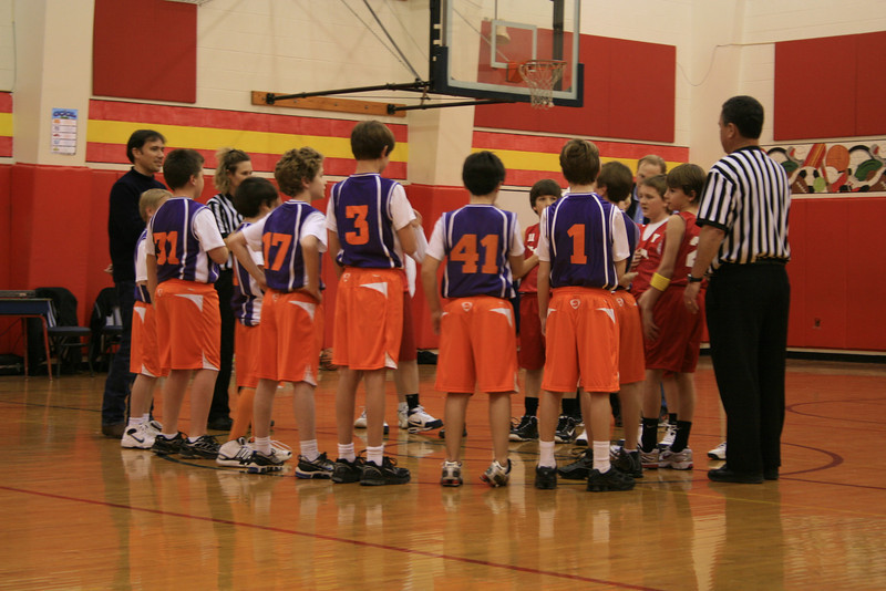 Grant's basketball team, the Suns, playing Park Cities YMCA game vs. the Mustangs.  Grant #41 (Dirk Nowitzki's number).