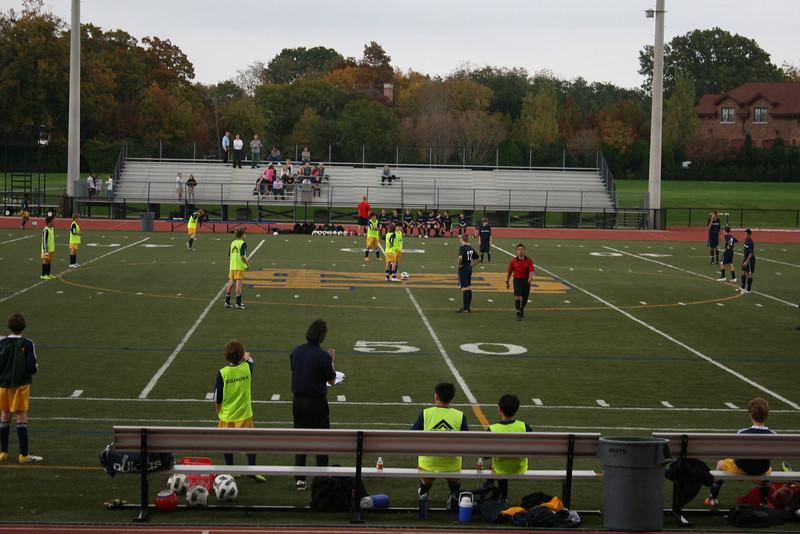 Grant's first soccer game for St. Mark's, 11/15/11 vs. Prestonwood Christian Academy 7/8 team.  Final score, SM 1, PCA 5.  Grant, 1 goal.