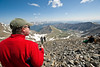 Nick checking out the view from the summit of Grays Peak