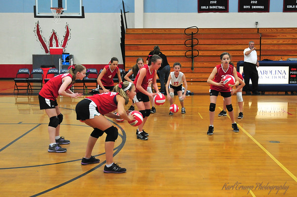 Greenville Hurricane Volleyball Middle School 2013