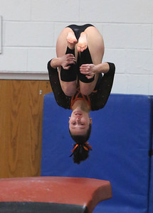Madison Meers of Buckeye during sectionals at West Geauga. BRUCE BISHOP / GAZETTE