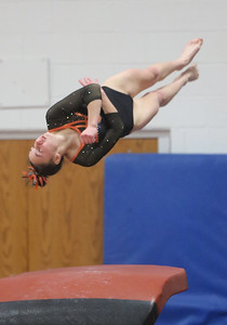 Tayla Thome after coming off the horse at West Geauga during sectionals. BRUCE BISHOP / GAZETTE
