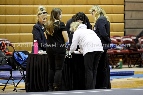 20180317 Womens Gymnastics Seattle Pacific University Falcons versus United States Air Force Academy Falcons Snapshots