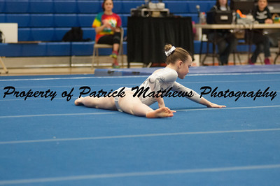 Ellie Farrell competes on floor  during the YMCA State competition held at Plainville HIgh School on April 4th and 5th