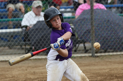 July 20 2013 ___ Christian Pataky hits a single against the Wellington Dukes at Wellington Community Park in Wellington. photo by Ray Riedel