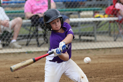 July 20 2013 ___ Christian Pataky of Keystone lines up for a base hit at Wellington Community Park in Wellington. photo by Ray Riedel