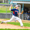 North Middlesex starting pitcher Richie Sharp throws a pitch. Nashoba Valley Voice/Ed Niser