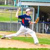 North Middlesex starting pitcher Richie Sharp throws a pitch. Nashoba Valley Voice/Ed Niser