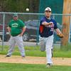 North Middlesex third baseman David Neuhaus fires to first for a putout. Nashoba Valley Voice/Ed Niser