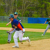 North Middlesex's Jimmy Caimpa is caught in a run down. Nashoba Valley Voice/Ed Niser