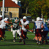 Daniel Goldstein runs towards the sidelines during Saturday's loss to Burncoat<br /> NASHOBA PUBLISHING/ED NISER