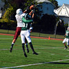 Ayer Shirley defensive back Alex Walker breaks up a pass in the first half of Saturday's loss to Burncoat.<br /> NASHOBA PUBLISHING/ED NISER