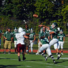 Burncoat quarterback Sylvester Dwyer fires a pass during Saturday's game.<br /> NASHOBA PUBLISHING/ED NISER