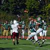 Burncoat quarterback Sylvester Dwyer fires a pass during Saturday's game.<br /> NASHOBA PUBLISHING/ED NISER