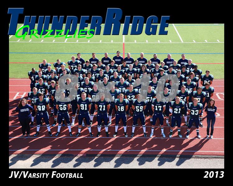 2013 TRHS Football JV-Varsity 16x20 Team Photo