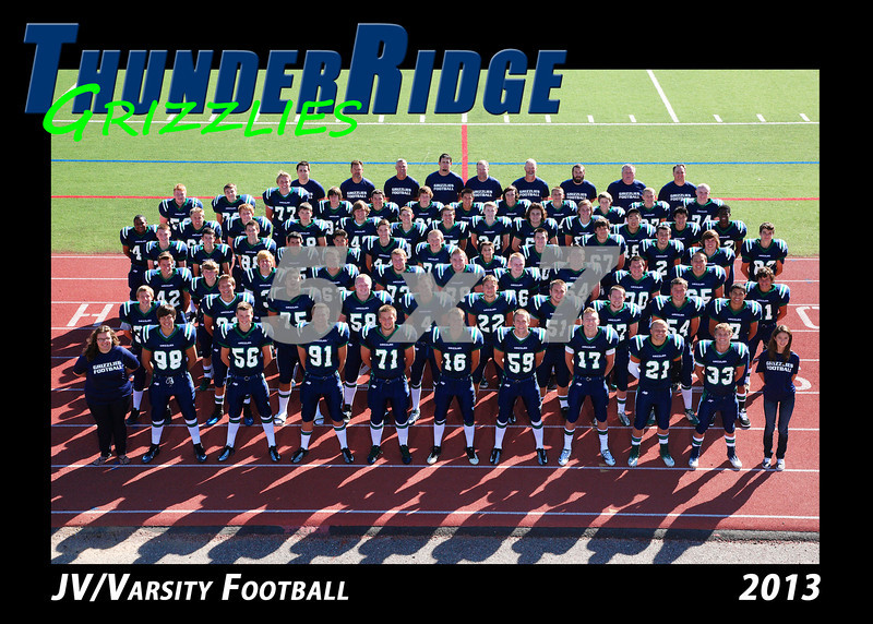 2013 TRHS Football JV-Varsity 5x7 Team Photo