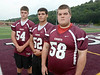 Lansingburgh High School football offensive linemen (l-r) Tyler McDonough, Kyle Ray, and Chris Eaton  Monday, August 26, 2013 in Lansingburgh. (J.S.Carras/The Record