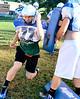 Brandon Hodges. Hoosick Falls Football practice. (Mike McMahon / The Record) 08/23/13