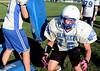Derek Bird, Hoosick Falls Football practice. (Mike McMahon / The Record) 08/23/13