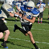 Levi Brewster. Hoosick Falls Football practice. (Mike McMahon / The Record) 08/23/13