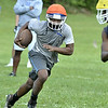 MIKE McMAHON - mmcmahon@digitalfirstmedia.com, Troy High School transfer DiKeem Edmundson First day of high school football practice at LaSalle high school in Troy, Monday August 18, 2014 (MIKE McMAHON - mmcmahon@digitalfirstmedia.com)
