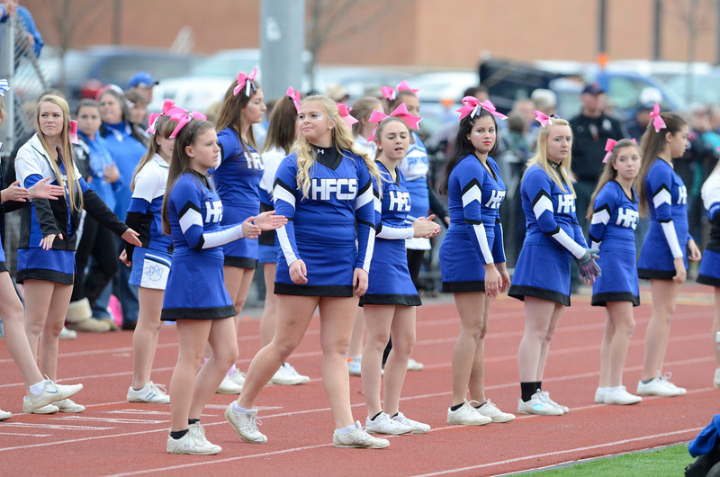 J.S.CARRAS/THE RECORD  Hoosick Falls  against Fonda during first quarter of Section II class C semi-final football action Saturday, November 2, 2013 at Stillwater High School in Stillwater, N.Y..