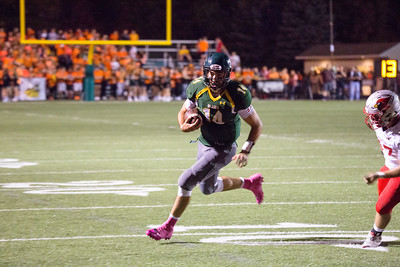 Medina Bees #14 Jimmy Daw on the touchdown score. FLETCHER BURCH / GAZETTE