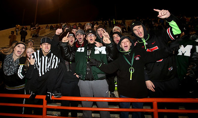Medina students cheer as Medina takes on Olentangy Liberty in Mansfield. AARON JOSEFCZYK / GAZETTE