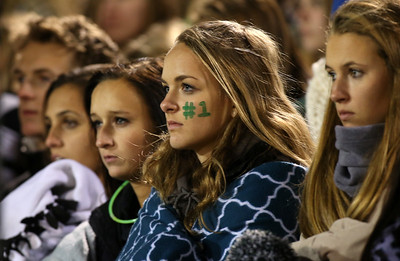 Medina students look on as Medina takes on Olentangy Liberty in Mansfield. AARON JOSEFCZYK / GAZETTE