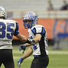 J.S.CARRAS - JCARRAS@DIGITALFIRSTMEDIA.COM  Hoosick Falls against Chenango Forks during second quarter of high school football Class-C State Championship action Saturday, November 29, 2014 in The Dome at Syracuse University in Syracuse, N.Y..