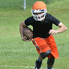 MIKE McMAHON - mmcmahon@digitalfirstmedia.com,  Stephen Jordan on First day of high school football practice at LaSalle high school in Troy, Monday August 18, 2014