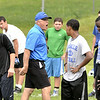 MIKE McMAHON - mmcmahon@digitalfirstmedia.com,  Coach Al Rapp on First day of high school football practice at LaSalle high school in Troy, Monday August 18, 2014
